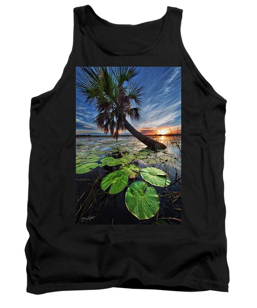 Lily Pads And Sunset Tank Top