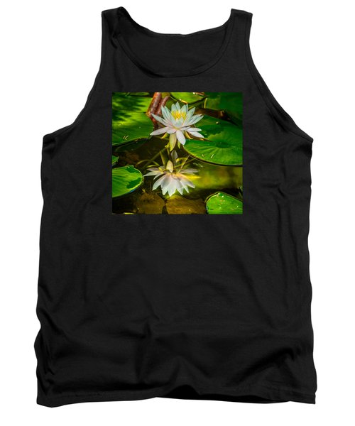 Tank Top featuring the photograph Lily Reflection by Jerry Cahill