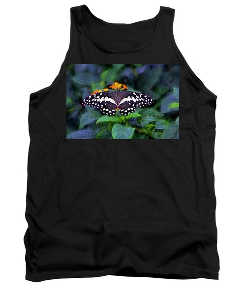 Lime Swallow Tail Tank Top
