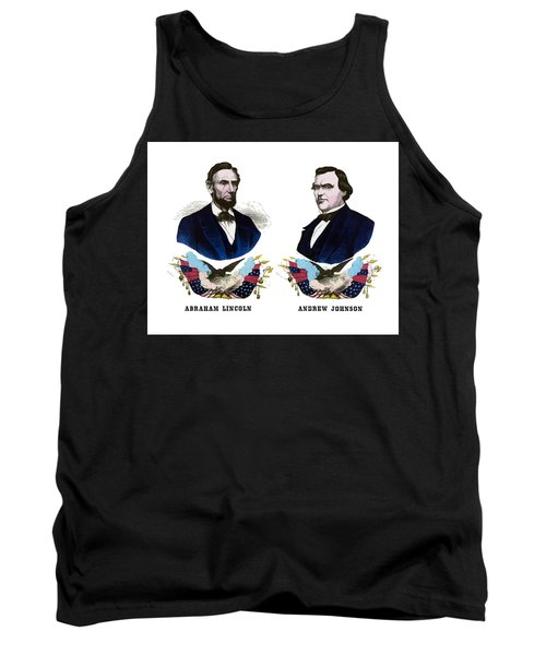 Lincoln And Johnson Campaign Poster Tank Top