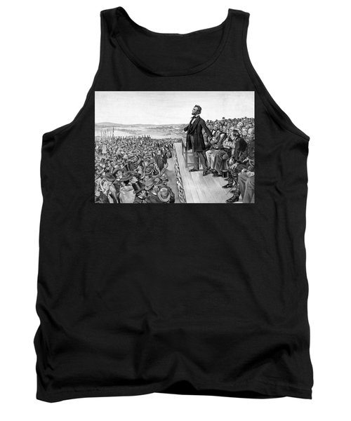 Lincoln Delivering The Gettysburg Address Tank Top