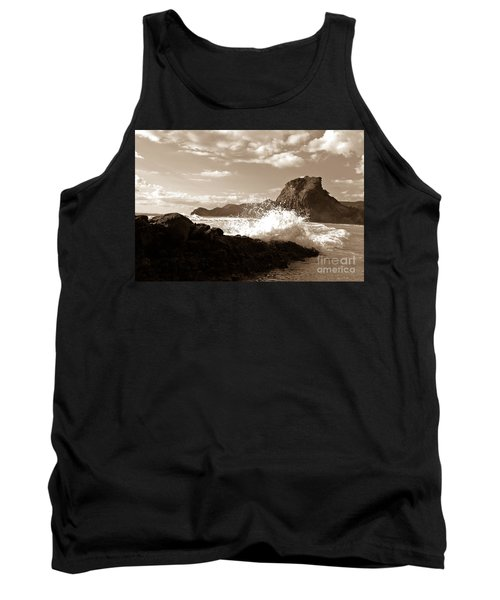 Tank Top featuring the photograph Lion Rock On Piha Beach, New Zealand by Yurix Sardinelly