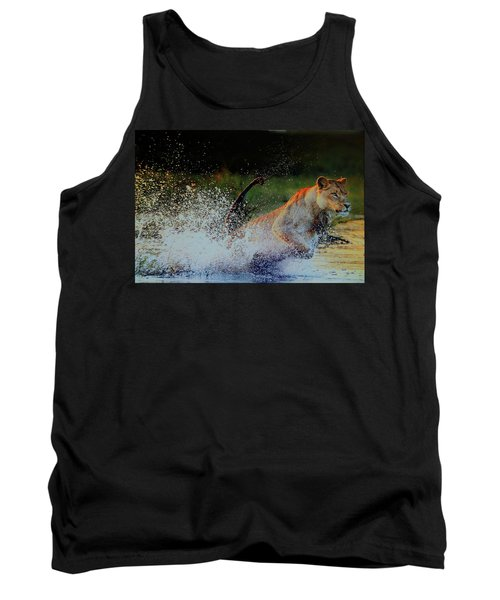 Lioness In Motion Tank Top