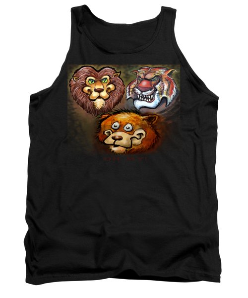 Lions And Tigers And Bears Oh My Tank Top by Kevin Middleton