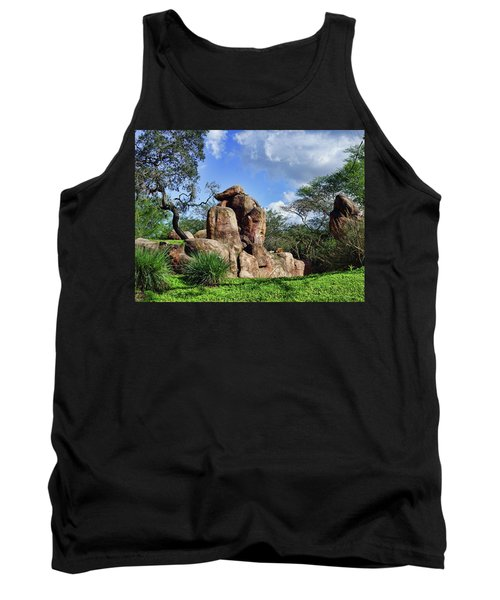 Tank Top featuring the photograph Lions On The Rock by B Wayne Mullins