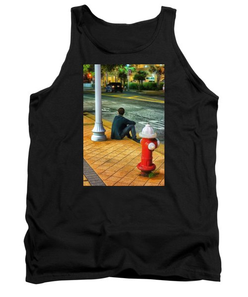 Tank Top featuring the photograph Listening  by Beth Akerman