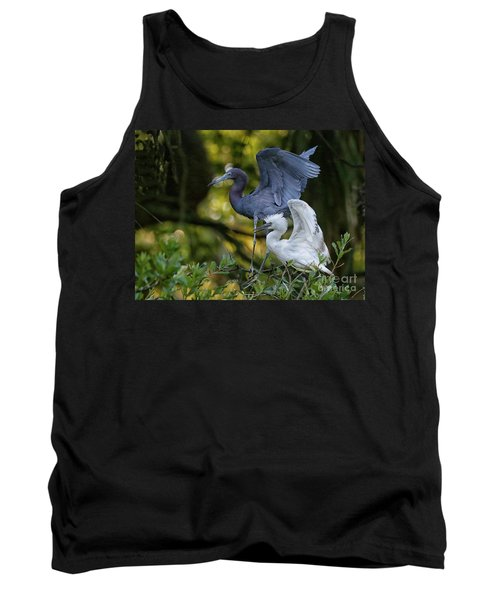 Little Blue Adult And Juvenile Tank Top by Myrna Bradshaw