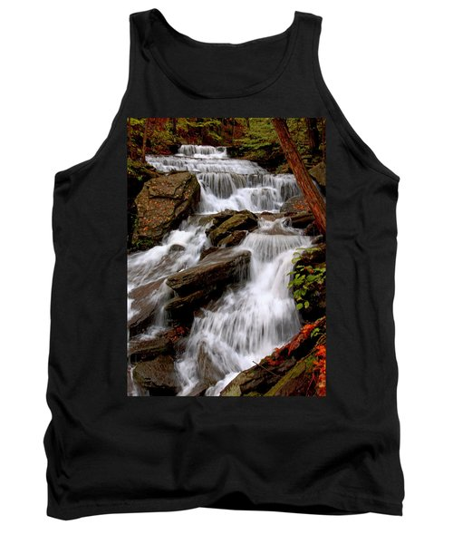 Tank Top featuring the photograph Little Four Mile Run Falls by Suzanne Stout