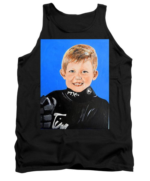 Tank Top featuring the painting Little Mister G by Betty-Anne McDonald