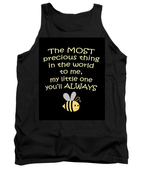 Little One You'll Always Bee Print Tank Top by Inspired Arts