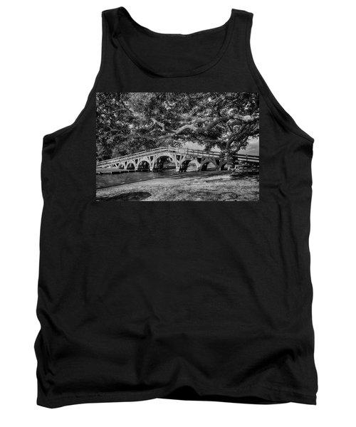 Tank Top featuring the photograph Live Oak Bridge by Alan Raasch
