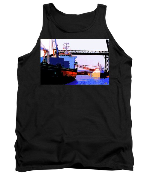 Loading The Iron Ore On The Great Lakes Freighters Tank Top