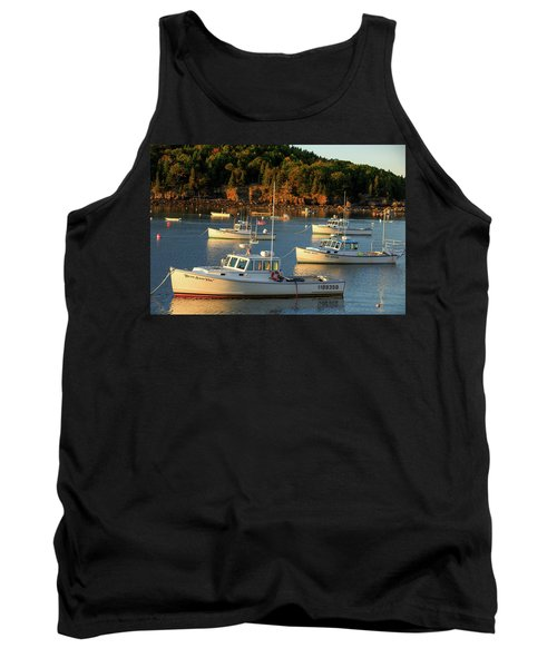 Tank Top featuring the photograph Lobster Boats At Bar Harbor Me  by Emmanuel Panagiotakis