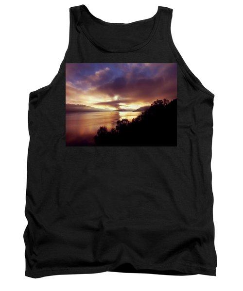 Loch Ness Winter Sunset Tank Top