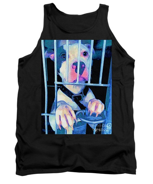 Tank Top featuring the digital art Locked Up by Kathy Tarochione