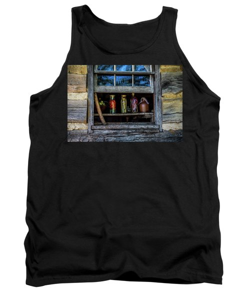 Tank Top featuring the photograph Log Cabin Window by Paul Freidlund