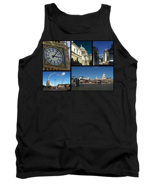 London Collage Tank Top