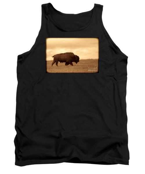 Lone Bison  Tank Top by American West Legend By Olivier Le Queinec