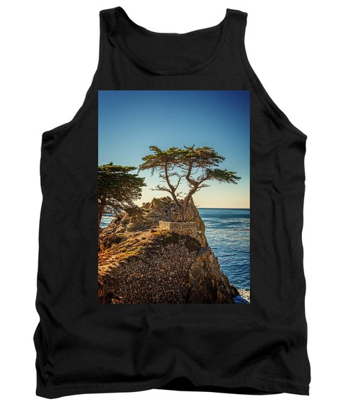 Lone Cypress Tree Tank Top by James Hammond