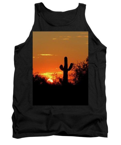 Lone Saguaro Sunrise Tank Top