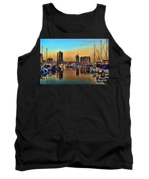 Tank Top featuring the photograph Long Beach Harbor by Mariola Bitner