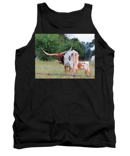 Tank Top featuring the photograph Longhorn Cattle by Robin Regan