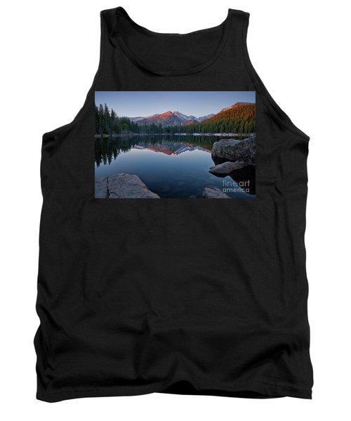 Longs Peak Reflection On Bear Lake Tank Top