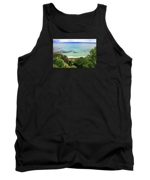 Tank Top featuring the photograph Looking Down To The Beach by Nareeta Martin