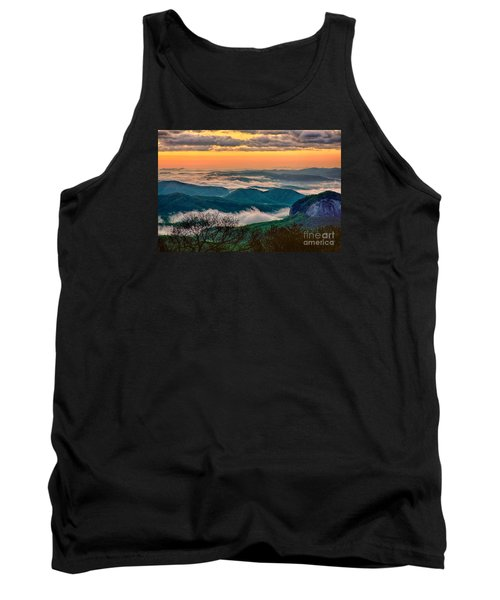 Looking Glass In The Blue Ridge At Sunrise Tank Top by Dan Carmichael
