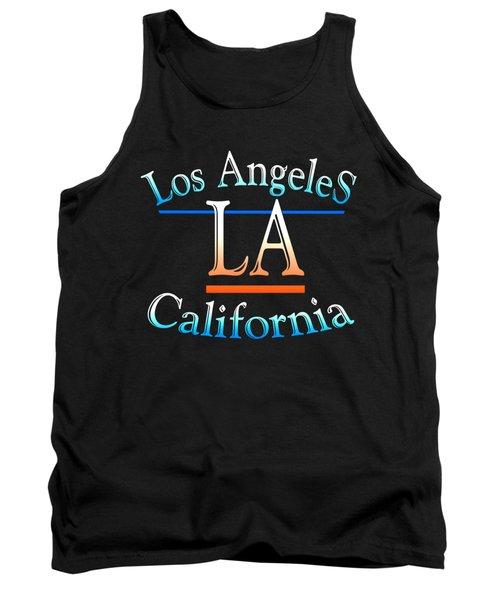 Los Angeles California Tshirt Design Tank Top by Art America Gallery Peter Potter