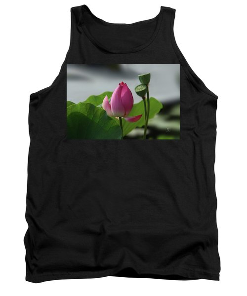 Lotus Flower In Pure Magenta Tank Top