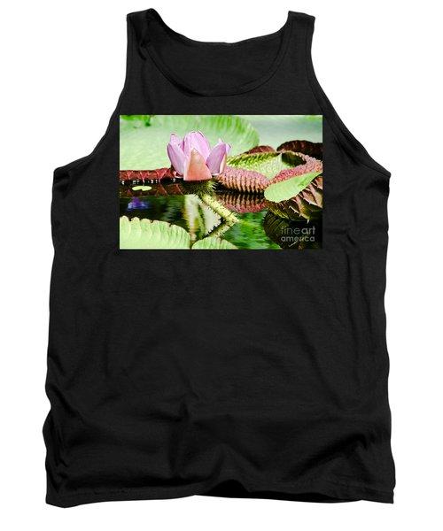 Lotus Flower In Water Tank Top