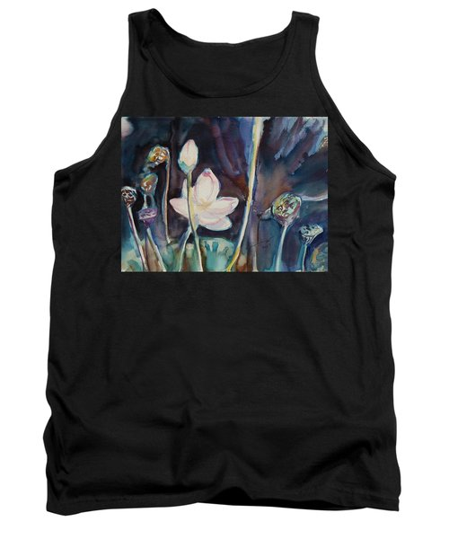 Tank Top featuring the painting Lotus Study II by Xueling Zou
