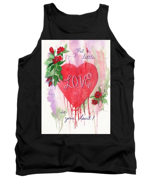Tank Top featuring the painting Love In Your Heart by Marilyn Smith