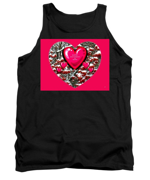 Tank Top featuring the digital art Love Is Patient And Kind by Will Borden