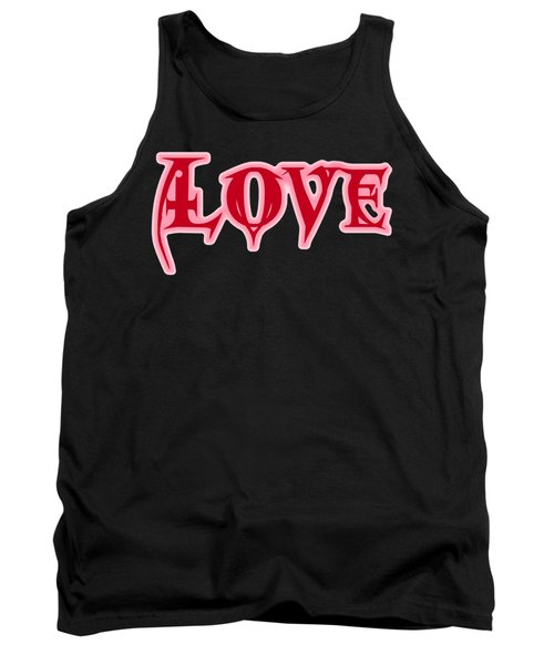 Love Text Tank Top