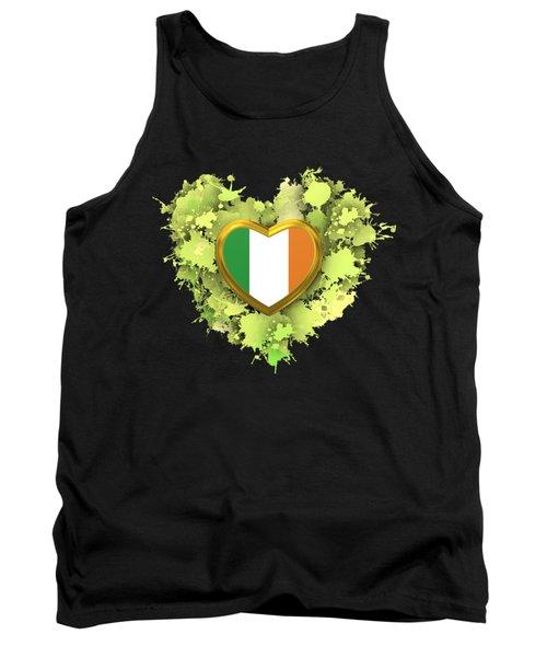 Tank Top featuring the digital art Love To Ireland by Alberto RuiZ