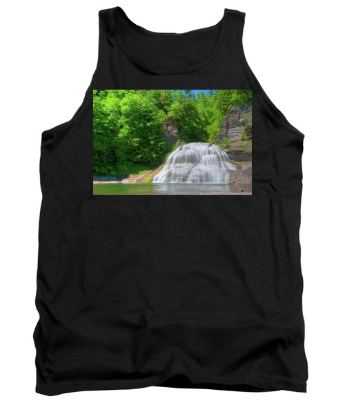 Tank Top featuring the photograph Lower Falls 0485 by Guy Whiteley