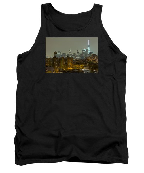 Lower Manhattan Cityscape Seen From Brooklyn Tank Top