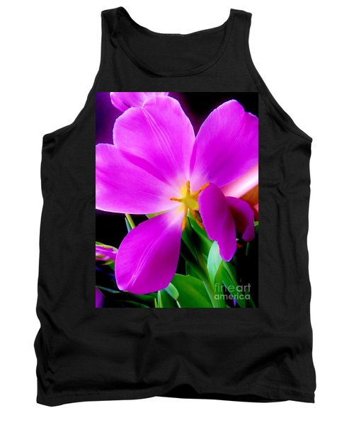 Luminous Tulips Tank Top by Tim Townsend