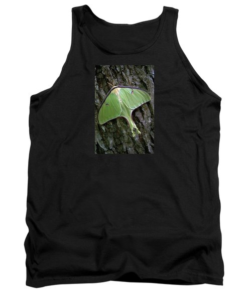 Tank Top featuring the photograph Luna Moth by Marie Hicks