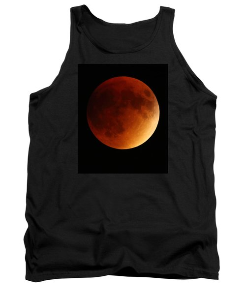 Tank Top featuring the photograph Lunar Eclipse 1 by Coby Cooper