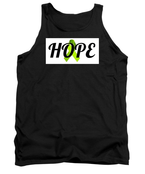 Lyme Awareness Ribbon Of Hope Tank Top by Laura Michelle Corbin