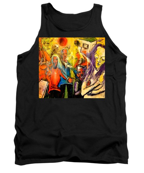 Macabre Setting For Disjointed Family Expectations Tank Top by Kenneth Agnello