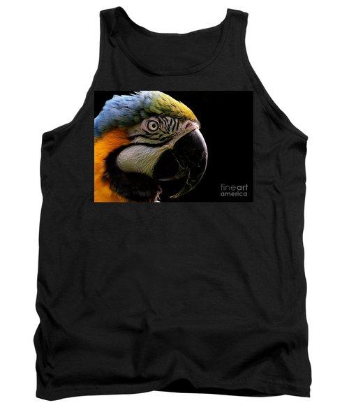 Macaw Parrot Portrait Tank Top
