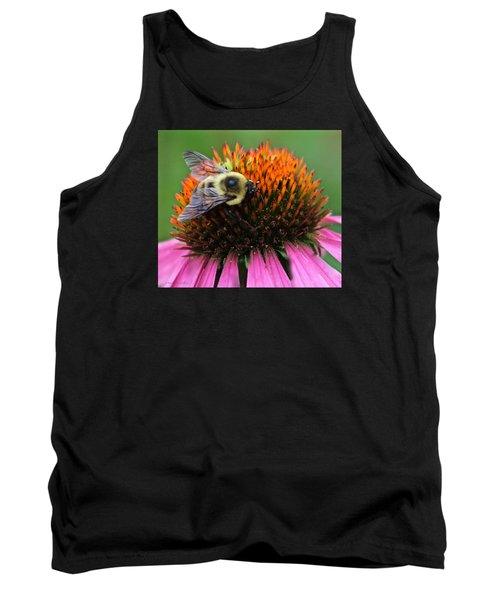 Tank Top featuring the photograph Macro Bee by Debra     Vatalaro