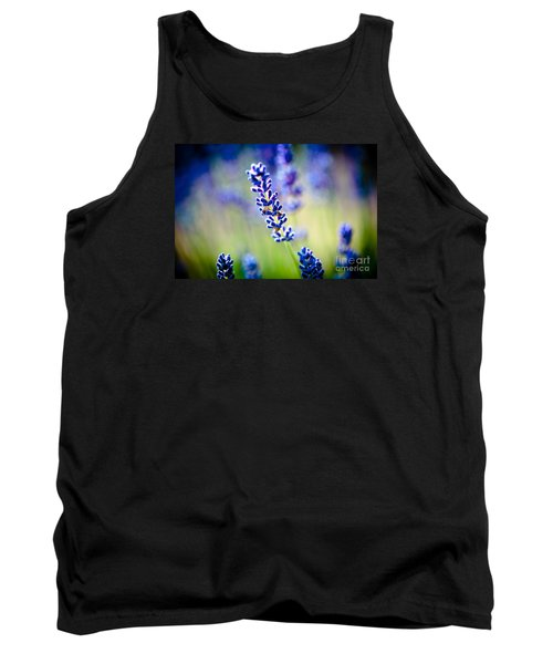 Macro Lavander Flowers In Lavender Field Artmif Tank Top