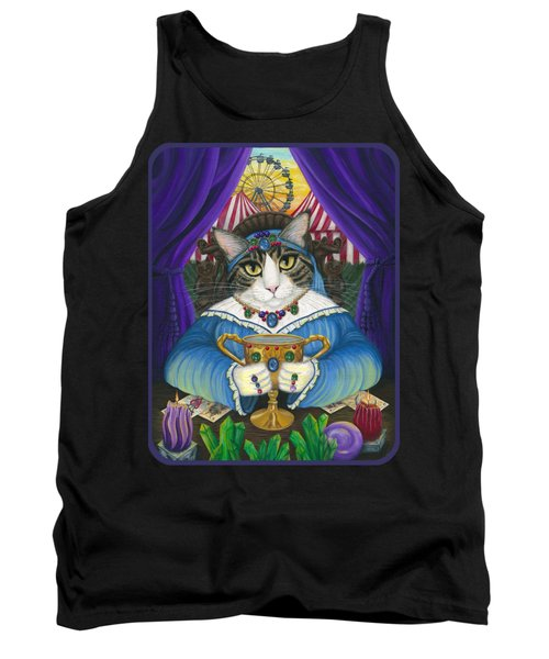 Tank Top featuring the painting Madame Zoe Teller Of Fortunes - Queen Of Cups by Carrie Hawks