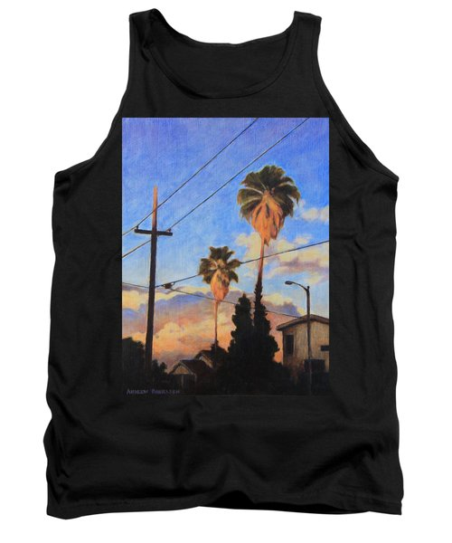 Tank Top featuring the painting Madison Ave Sunset by Andrew Danielsen