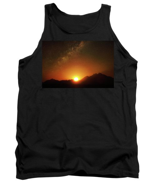 Magical Milkyway Above The African Mountains Tank Top